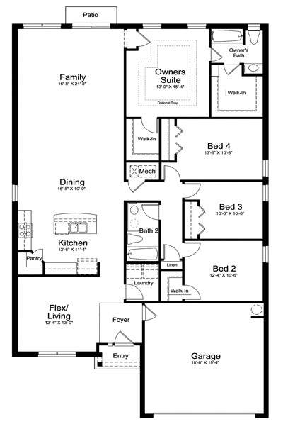 Fall In Love With Landon Homes New Single Family Model The Vilano Four Bedrooms And An Open Ious Floorplan It Features 9 Foot Ceilings