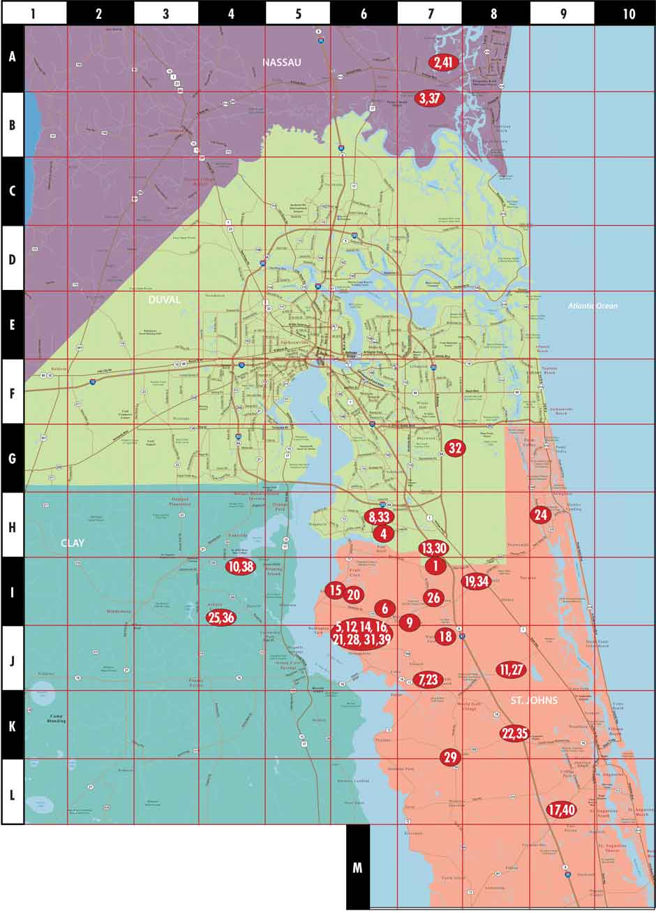 Map Guide To New Homes Northeast Florida Edition
